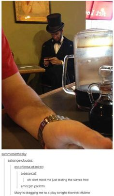 Lincoln makes history: | 33 Of The Greatest Things That Happened On Tumblr In 2013