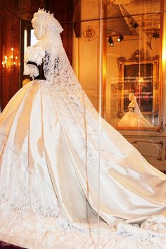 Empress Elisabeth of Austria's famous Worth gown worn at her coronation as Queen of Hungary.
