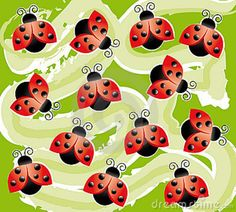 ladybug background pictures | Abstract wallpaper/background with dimensional ladybugs. Shapes and ...