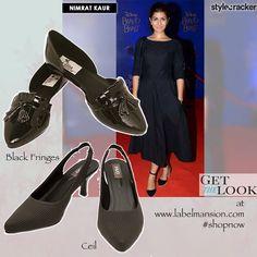 Get Nimrat Kaur's Look at www.labelmansion.com #labelmansion #shoes #getthelook #nimratkaur #heels #shoelovers #girls #india #mondays #shoponline