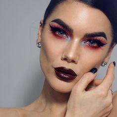 "Polubienia: 7,993, komentarze: 108 – Linda Hallberg (@lindahallberg) na Instagramie: ""Red inliner. Yay or nay? I love it! Product list is on my blog lindahallberg.com #fotd #makeup #mua"""