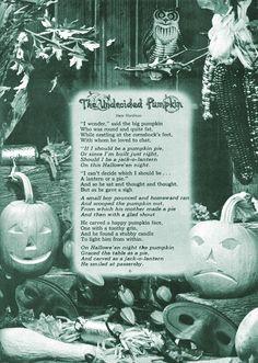a halloween pumpkin poem Halloween Poems, Vintage Halloween Cards, Samhain Halloween, Halloween Night, Halloween Pictures, Holidays Halloween, Halloween Pumpkins, Halloween Crafts, Happy Halloween