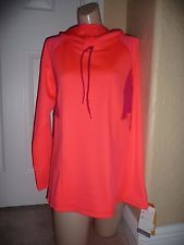 NWT C9 by Champion® Women's Adjustable Tech Fleece Pullover Lrg Coral pomagranet