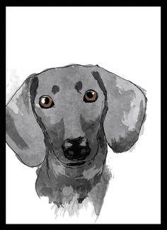 Daschund (Teckel) - Dog in Art