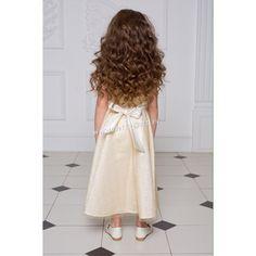 Длинное платье для девочки (золотистое)