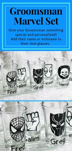 Give your Groomsman personalized gift! Some of the greatest super heroes of all time! Many fan favorites. Marvel Wedding Theme, Comic Book Wedding, Geek Wedding, Wedding Gifts For Groom, Beach Wedding Favors, Disney Wedding Gifts, Wedding Ideas, Wedding Stuff, Dream Wedding