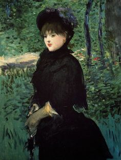 Édouard Manet | The Promenade, c. 1880 | oil on canvas 92.3 x 70.5 cm Private Collection