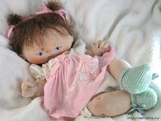 boneca bebê de pano com moldes