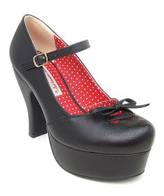 Look at this B.A.I.T. Black Peggy Pump on #zulily today!