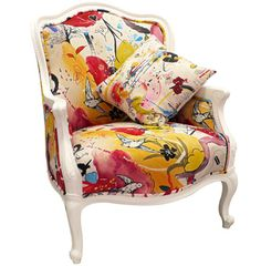 Colorful Chic Vintage Chair
