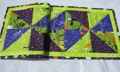 Halloween Quilted table runner by KellettKreations on Etsy, $29.00