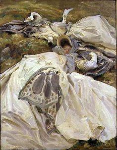 Two White Dresses, 1911 ~ John Singer Sargent ~ (American: 1856-1925)