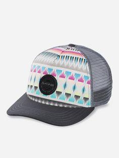 ce106fa9066e9 Dakine Women s Zanzibar Trucker Hat  The Dakine Zanzibar Trucker Hat has an  awesome design guaranteed to get looks. It has an adjustable back that  makes for ...