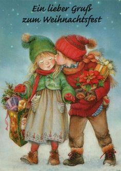 Suenos de nina - Navidad ~ Painting by Lisi Martin Spanish) Vintage Christmas Images, Vintage Holiday, Christmas Pictures, Illustration Noel, Christmas Illustration, Holly Hobbie, Christmas Scenes, Kids Christmas, Merry Christmas