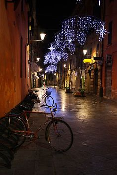 City street lights....