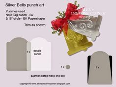 Alex's Creative Corner: Silver Bells Christmas Card