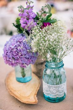 Centerpiece inspiration - Rustic Washington Destination Wedding from Vienna Glenn Photography