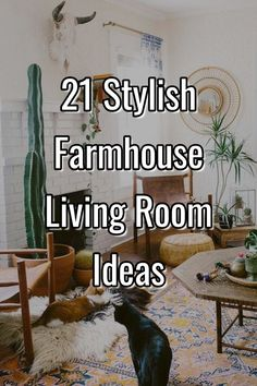 21 Stylish Farmhouse Living Room Ideas #farmhouselivingroom #farmhouse #livingroom