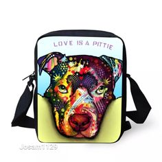 Colorful Dog Purse - LOVE IS A PITTIE Russo Style Passport Bag - Crossbody Bag #Unknown #MessengerCrossBody
