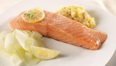 Baked Norwegian Salmon with Sweet and Sour Cucumber Salad - SalmonfromNorway.com