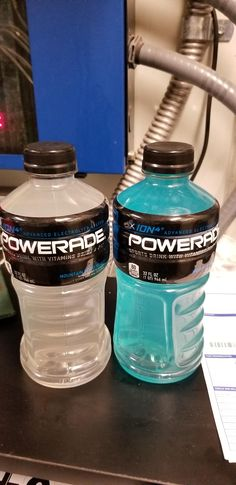 This blue Powerade I found at work is actually white.