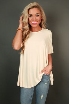Champagne Sips Shift Top