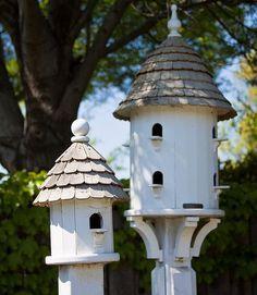 for the birds. Bird House Plans, Bird House Kits, Bird Houses Diy, Fairy Houses, Outdoor Spaces, Outdoor Living, Outdoor Decor, Bird House Feeder, Bird Feeders