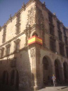 Trujillo, Extremadura, Spain, Pizarro's house, main Plaza
