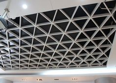 China Wide Suspension Grid Metal Ceiling , Grille Open Cell Ceiling Tiles supplier