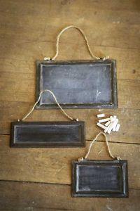"""Metal Framed Message Blackboard Chalkboard Vintage Style 10"""" x 3 5""""   eBay"""