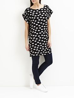 PATTERNED TUNIC, Black