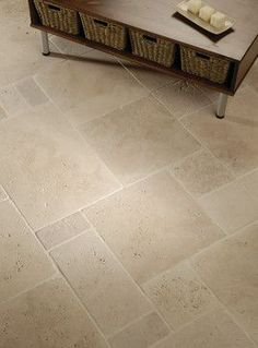 original style - levantine ivory travertine tiles - Flooring throughout house Contemporary Interior Design, House Flooring, Foyer Flooring, Limestone Flooring, Farmhouse Flooring, Flooring, Travertine Floors, Patio Flooring, Flooring Trends