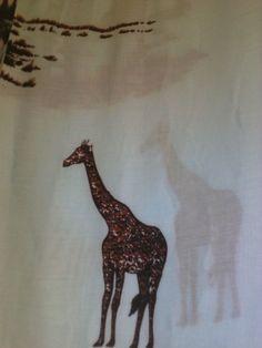Printed African Giraffe Fabric