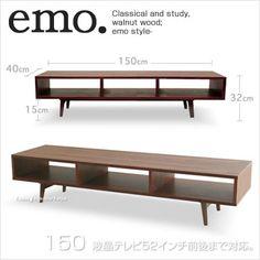 送料無料! emo (エモ) 150cm TVボード・テレビ台 高級感溢れるウォールナットの質感 テレビボード・TV台・ローボード AVボード・北欧・ミッドセンチュリー 。。【楽天市場】
