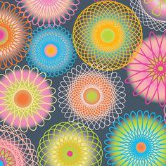 Supernova SpiroGeekChic fabric by groovity on Spoonflower - custom fabric