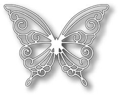 """*Simon Says Stamp DEVONSHIRE BUTTERFLY Die S173--This die measures approximately 3"""" X 2.5""""  (Works great with Simon Says Stamp Paulina Butterfly Die S174)"""