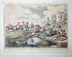 The City Hunt c. 1810 hand coloured etching Thomas Rowlandson, H. Bunbury in Art, Prints, Antique (Pre-1900), Cartoons & Caricatures | eBay