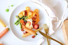 Stekt torsk med søtpotetpure og baconbiter (amandadorothea)