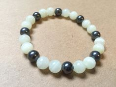 Black and white agate bracelet by NanabojoDesigns on Etsy