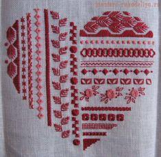 Схема для вышивки: Heart mystery - шовчиковая мистерия | Вышивка | Постила