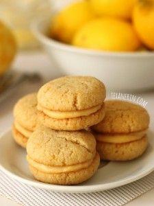 Chewy Lemon Cookie Sandwiches (Grain-Free) #gluten free #dairy free