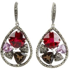 Judith Jack Sangria Chandelier Earrings (€245) ❤ liked on Polyvore featuring jewelry, earrings, accessories, aros, brincos, women, judith jack jewelry, chandelier earrings, handcrafted jewelry and cluster earrings