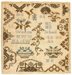 Sampler, Probably Susanna Lightfoot, American, 1783 - 1826. Made at Westtown School, founded 1799.