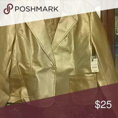 NWT WORTHINGTON gold jacket NWT WORTHINGTON gold jacket designer pattern snakeskin Blazer WORTHINGTON  Jackets & Coats Blazers
