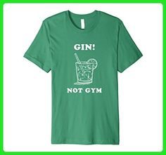 Mens Funny Fitness T-Shirt Gin Not Gym Large Kelly Green - Workout shirts (*Amazon Partner-Link)