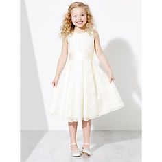 Buy John Lewis Girls' Charlotte Lace Bridesmaid Dress, Ivory Online at johnlewis.com