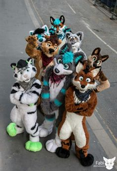 Oh yea fursuiters!- Fursuits made by PhoenixWolf.
