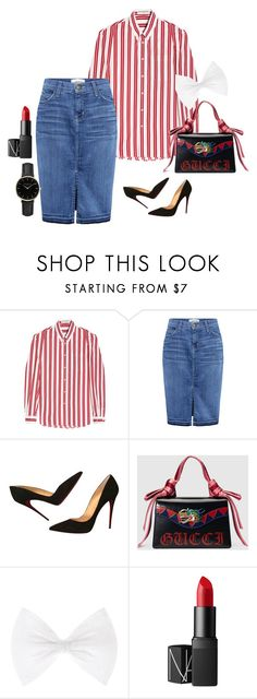 """080317"" by minngi ❤ liked on Polyvore featuring Balenciaga, Current/Elliott, Christian Louboutin, Gucci, NARS Cosmetics and ROSEFIELD"