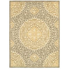 allen   roth�Thorndale 7-ft 9-in x 10-ft 3-in Rectangular Gray Floral Area Rug