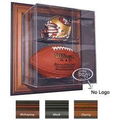 Case-Up Mini Helmet & Football Display Case (No Logo)